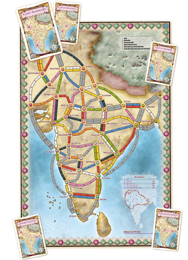 ticket to ride india box components